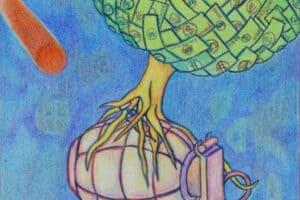 Sager Al Qatil, Untitled #6, 1999, mixed media on paper, 30 x 22 cm