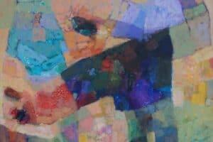 Samir Salameh, Untitled, 2017, acrylic on canvas, 62 x 62 cm