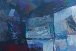Samir Salameh, Untitled, 2017, acrylic on canvas, 78 x 78 cm