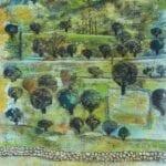 Wadi Sa'er, 2018, Mixed media on paper, 65 × 50 cm