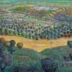 Qusra (Nablus), 2019, Acrylic on canvas, 100 × 115 cm