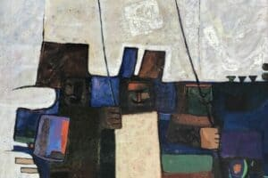 Samir Salameh, Untitled, 1974, oil on canvas, 92 x 77 cm