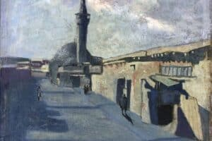 Samir Salameh, Damascus, 1964, oil on canvas, 48 x 42 cm