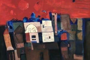Samir Salameh, Untitled, 1981, oil on canvas, 90 x 117 cm