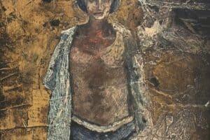 Samir Salameh, Untitled, 1962, oil on board, 37 x 27 cm