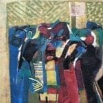 Untitled, 1993, oil on canvas, 147 x 147 cm