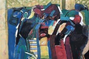 Samir Salameh, Untitled, 1993, oil on canvas, 147 x 147 cm