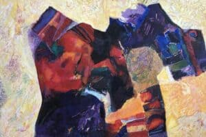 Samir Salameh, Untitled, 1999, oil on canvas, 158 x 230 cm