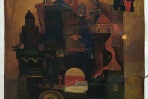 Samir Salameh, Impression of Jerusalem #2, 1980, oil on canvas, 107 x 87 cm