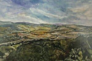 Samir Salameh, Untitled, 2001, watercolour on paper, 47 x 62 cm