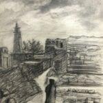 Dar'a, 1961, pencil on paper, 32 x 22 cm
