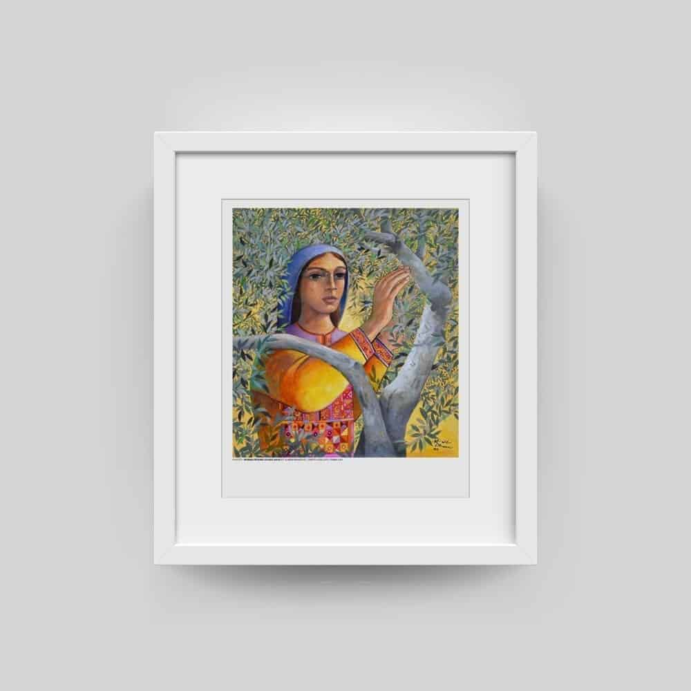 Woman Picking Olives