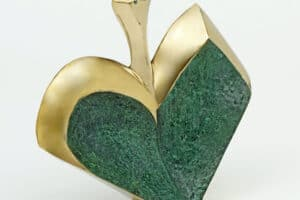 Sana Bishara, Love Bird, 2014, bronze, 22 x 20 x 8 cm