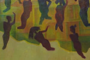 xTayseer Barakat, Untitled, 1989, oil on canvas, 100 x 70 cm