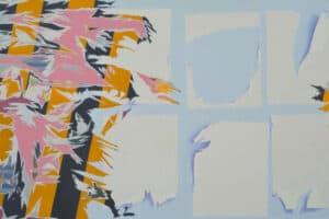 Bashar Khalaf, In Search of a Portrait #14, 2019, oil on canvas, 137 x 237 cm