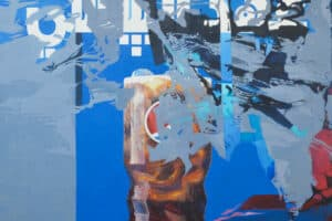 Bashar Khalaf, In Search of a Portrait #9, 2019, oil on canvas, 170 x 170 cm