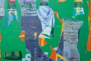Bashar Khalaf, In Search of a Portrait #11, 2019, oil on canvas, 170 x 170 cm