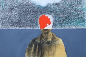 Hosni Radwan, Out of Place #10 (2017), acrylic on canvas, 140 x 140 cm
