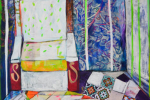 Rana Samara, Untitled (2019), acrylic on canvas, 214 x 169 cm
