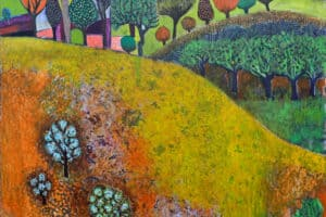 Nabil Anani, Landscape Dream (2019), acrylic on canvas, 85 x 100 cm