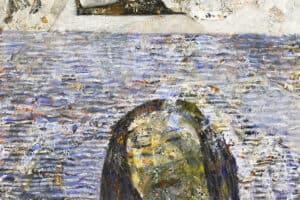 Tayseer Barakat, Maysoun, 2018, acrylic on canvas, 42 x 47 cm
