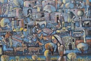 Nabil Anani, Motivation (2012), acrylic on canvas, 100 x 115 cm