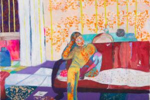 Rana Samara, Untitled (2021), acrylic on canvas, 172 x 215 cm