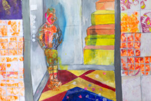 Rana Samara, Untitled (2021), acrylic on canvas, 212 x 203 cm