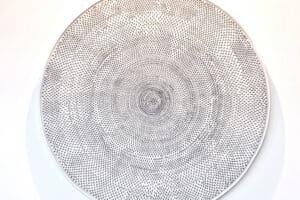 Ruba Salameh, Ant work, 2005, oil on canvas, diameter: 120 cm