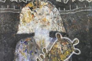 Tayseer Barakat, Rula, 2019, acrylic on canvas, 47 x 41 cm