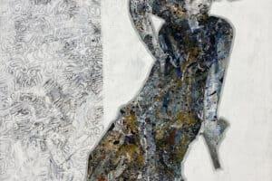 Tayseer Barakat, Separation #2, 2017, acrylic on canvas, 165 x 125 cm