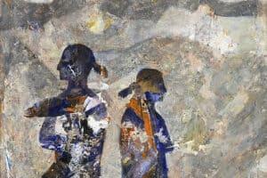 Tayseer Barakat, Separation #6, 2019, acrylic on canvas, 47 x 42 cm