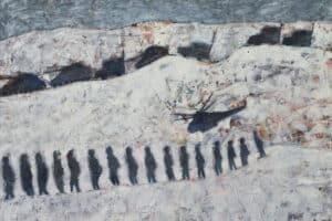 Tayseer Barakat, Shoreless Sea #11, 2019, acrylic on canvas, 50 x 70 cm