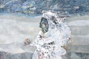 Tayseer Barakat, Shoreless Sea #15, 2019, acrylic on canvas, 50 x 70 cm