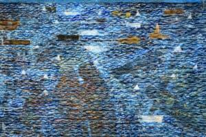 Tayseer Barakat, Shoreless Sea #17, 2019, acrylic on canvas, 50 x 70 cm