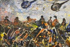 Tayseer Barakat, Shoreless Sea #2, 2018, acrylic on canvas, 41 x 47 cm