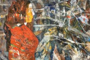 Tayseer Barakat, Shoreless Sea #25, 2019, acrylic on canvas, 47 x 42 cm