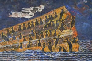 Tayseer Barakat, Shoreless Sea #26, 2019, acrylic on canvas, 50 x 70 cm