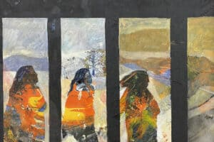Tayseer Barakat, Shoreless Sea #30, 2019, acrylic on canvas, 42 x 47 cm