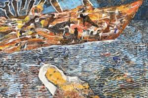 Tayseer Barakat, Shoreless Sea #37, 2019, acrylic on canvas, 50 x 70 cm