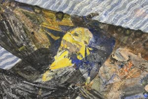 Tayseer Barakat, Shoreless Sea #39, 2019, acrylic on canvas, 47 x 41 cm