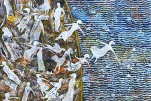 Tayseer Barakat, Shoreless Sea #40, 2019, acrylic on canvas, 50 x 70 cm