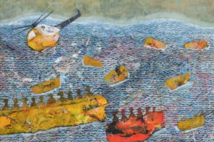 Tayseer Barakat, Shoreless Sea #9, 2019, acrylic on canvas, 50 x 70 cm