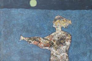 Tayseer Barakat, Survival #2, 2017, acrylic on canvas, 126 x 165 cm