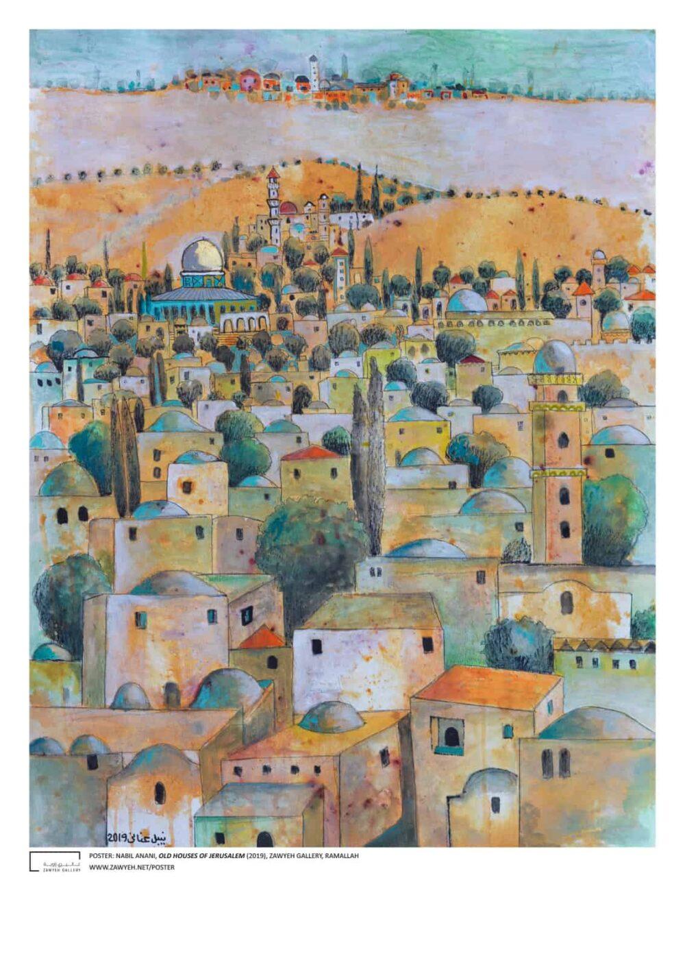 Old Houses of Jerusalem by Nabil Anani Poster
