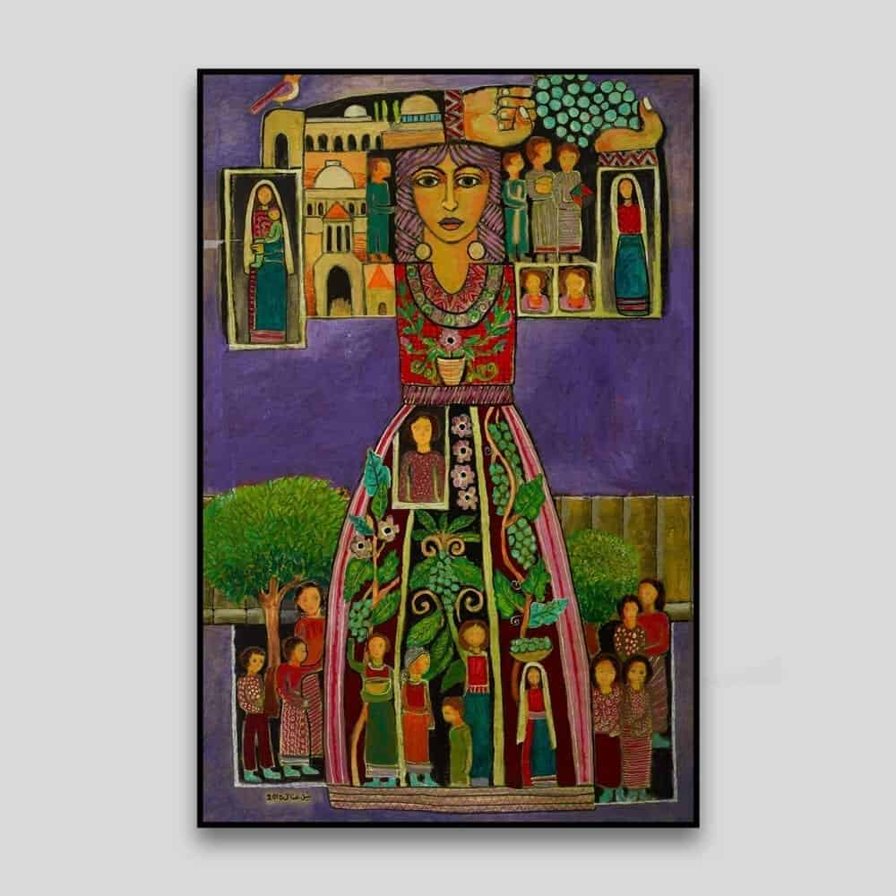 Palestinian Icon by Nabil Anani - Canvas