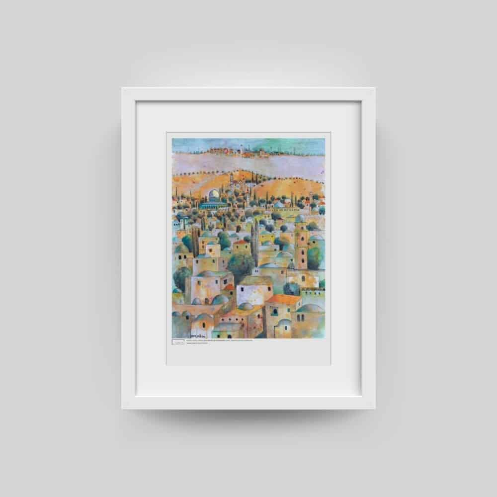 Old Houses of Jerusalem by Nabil Anani Poster