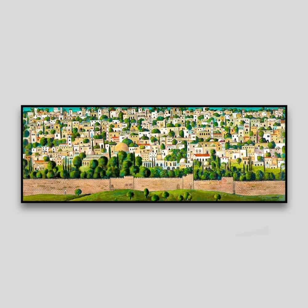Jerusalem (2013) by Nabil Anani - Canvas
