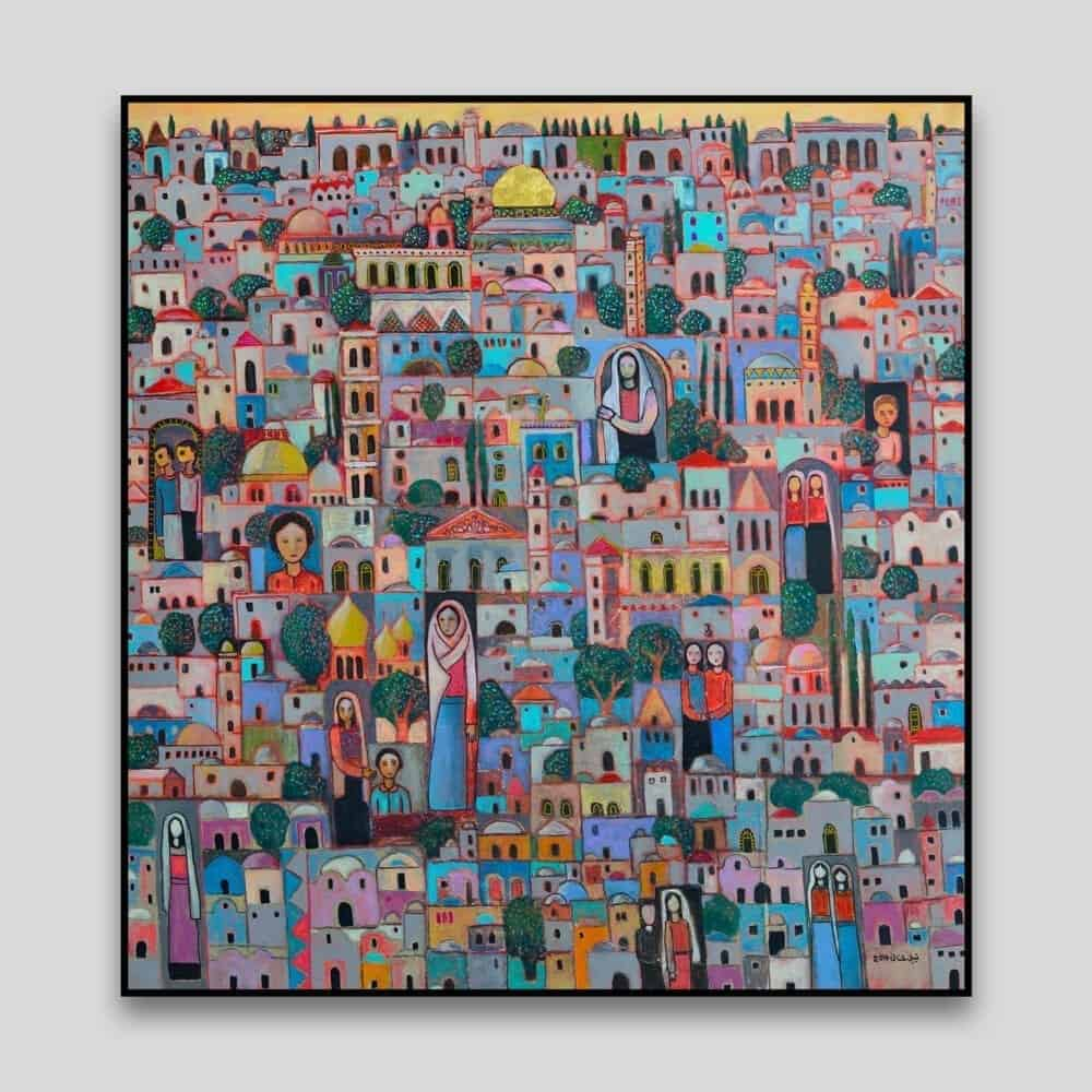 My Capital by Nabil Anani - Canvas