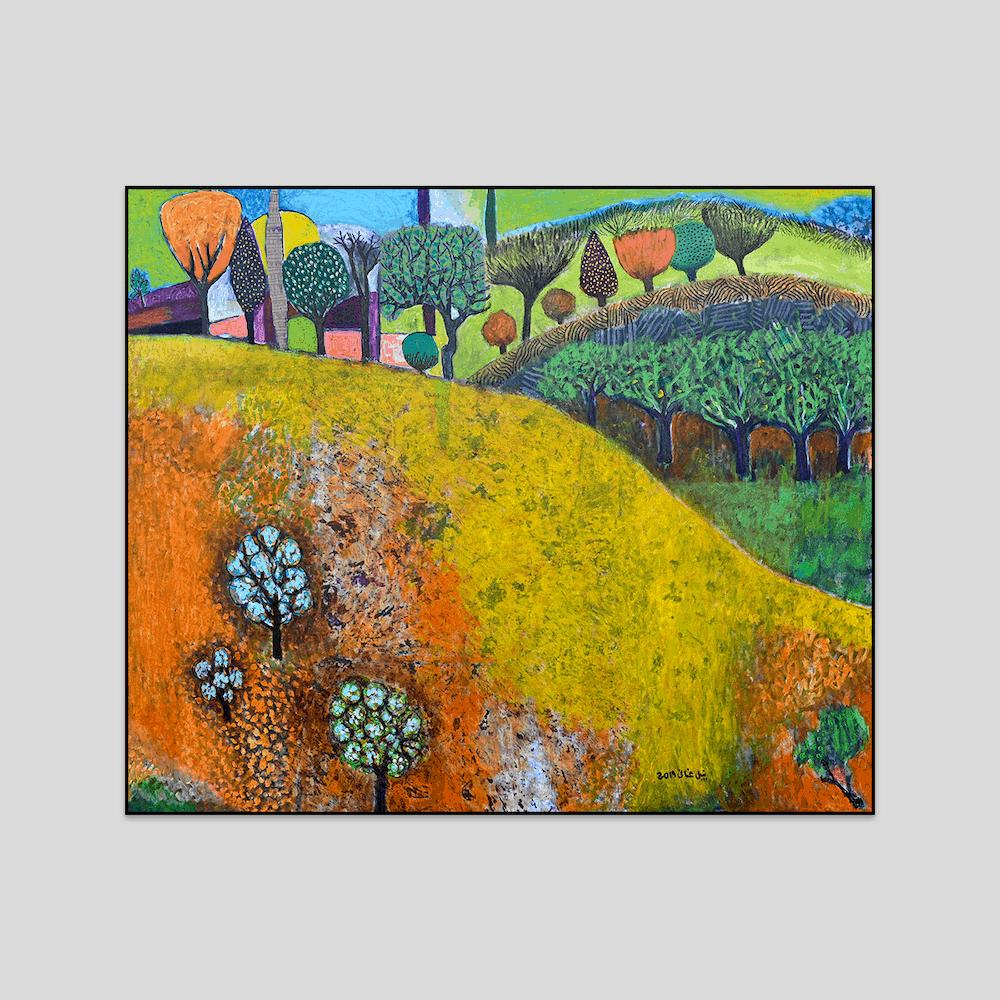 Landscape Art Print by Nabil Anani